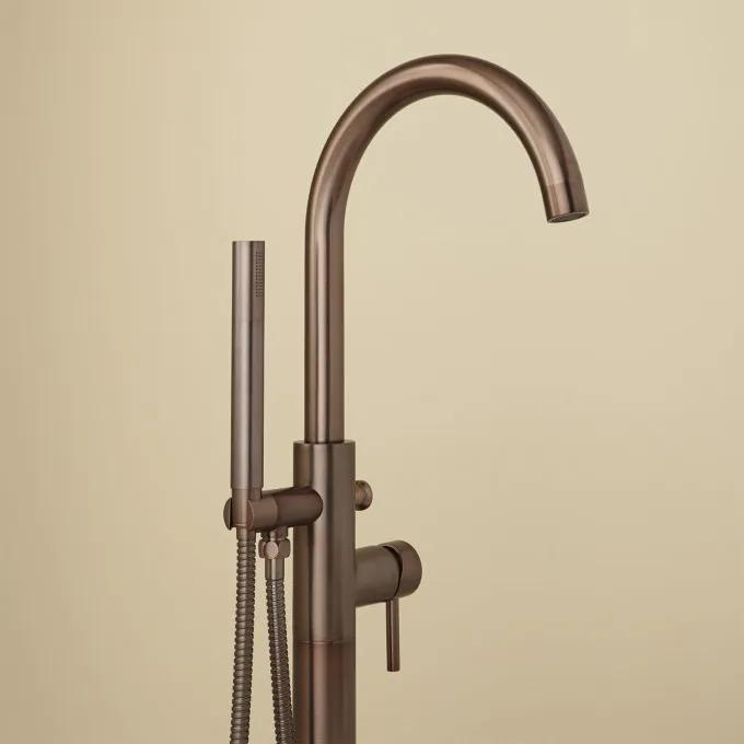 Lethe Freestanding Tub Faucet with Hand Shower - Oil Rubbed Bronze Detail