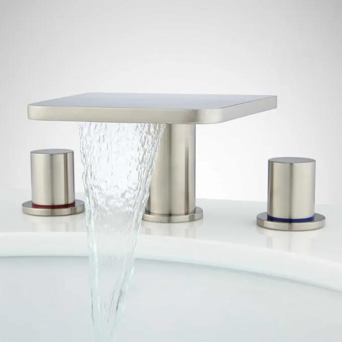 Knox Widespread Waterfall Faucet with Pop-Up Drain