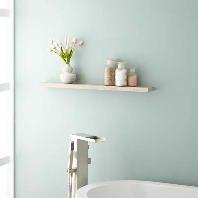 Wulan Teak Shelf - Whitewash