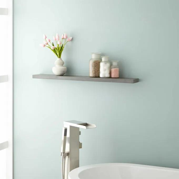Wulan Teak Shelf - Gray