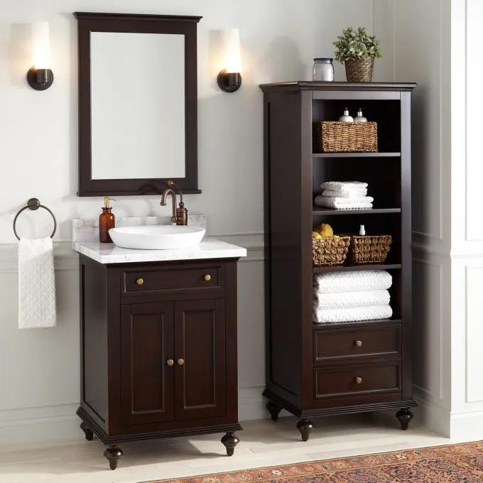 With Optional Mirror and Linen Cabinet