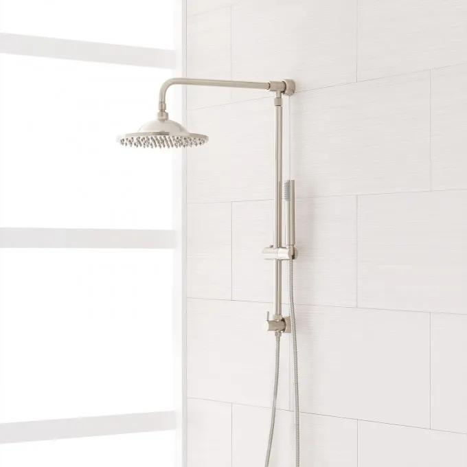 Bostonian Brass Rainfall Nozzle Shower System with Hand Shower