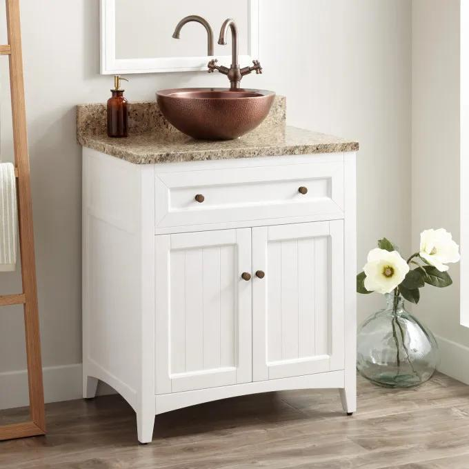"30"" Halifax Vessel Sink Vanity - White"