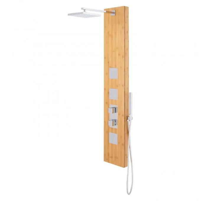 Muzzillo Thermostatic Bamboo Shower Panel with Hand Shower
