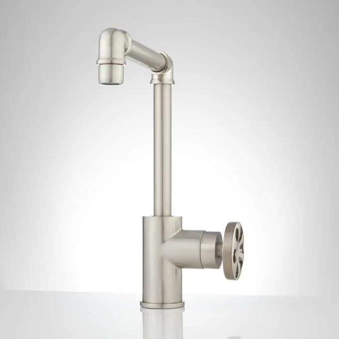Edison Single Hole Faucet - No Overflow - Brushed Nickel