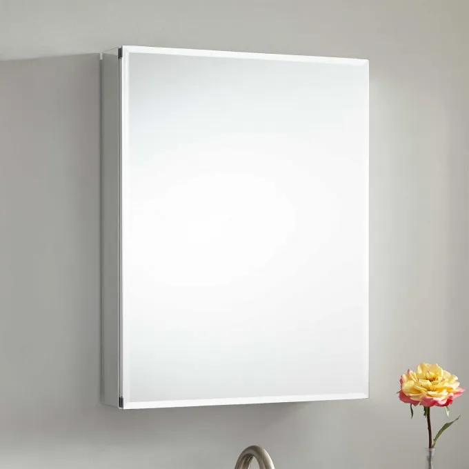 """20"""" Mountclare Surface Mount Medicine Cabinet with Beveled Mirror"""