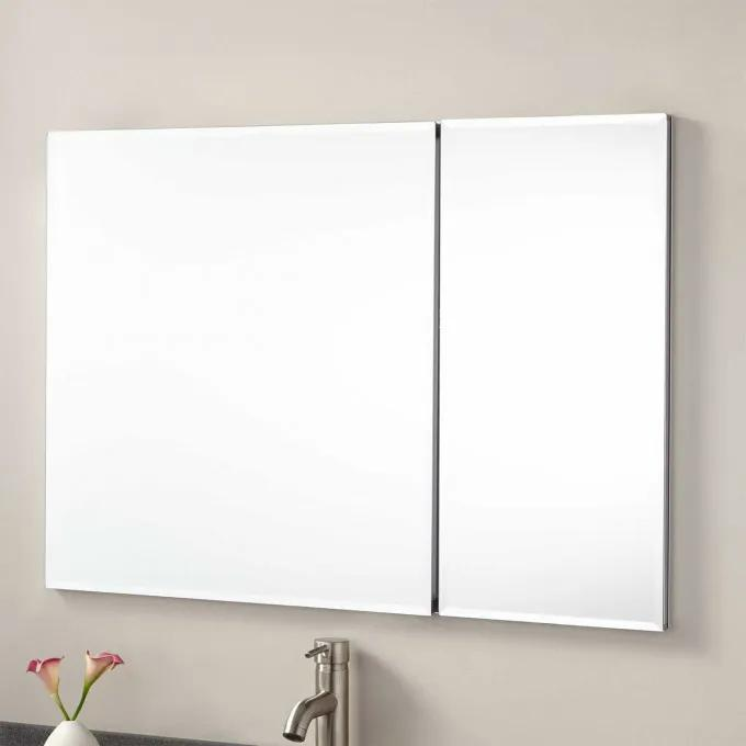 "36"" Cordain Recessed Mount Medicine Cabinet with Mirror"