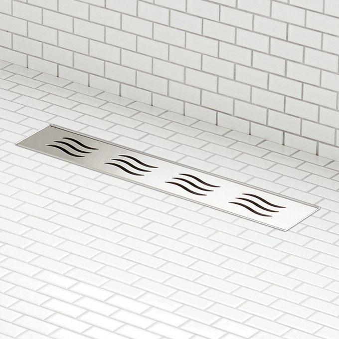 Licata Linear Shower Drain - Brushed Stainless Steel