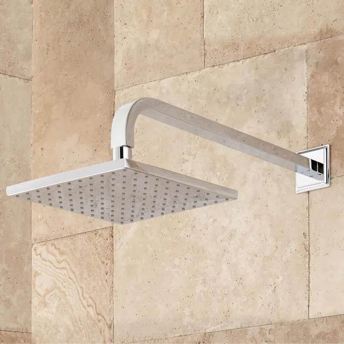 Wall-Mount Rainfall Shower Head - Chrome