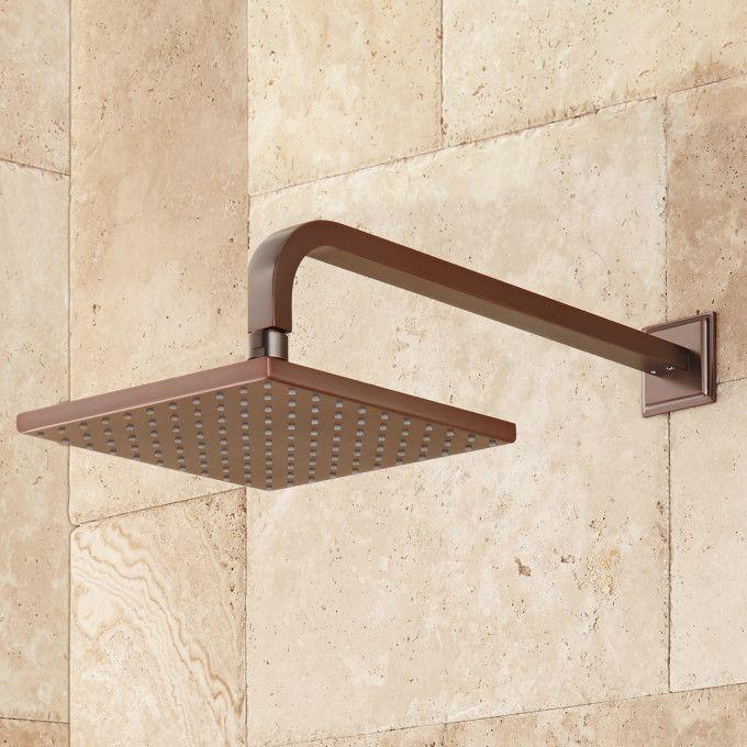 Wall-Mount Rainfall Shower Head - Oil Rubbed Bronze