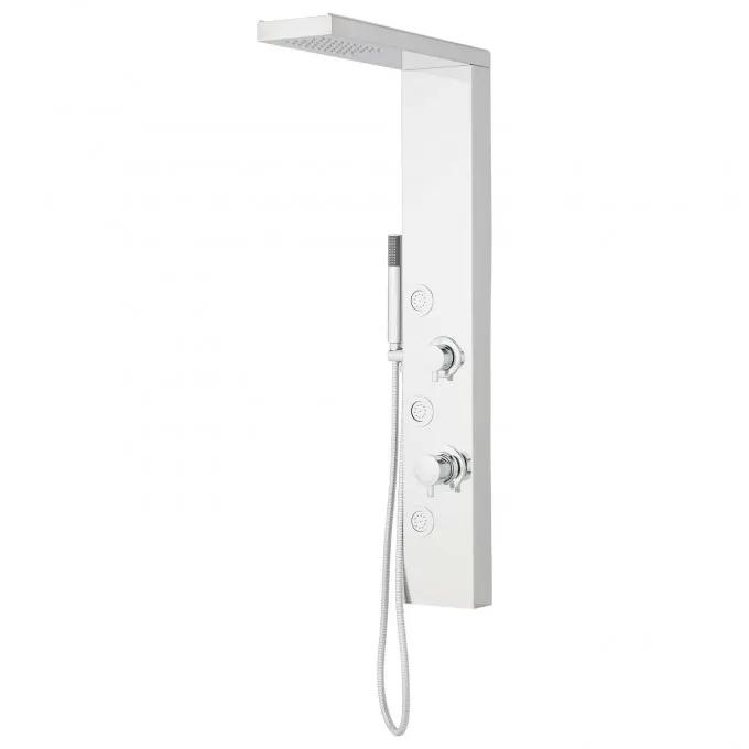 Briley Stainless Steel Shower Panel with Body Sprays and Hand Shower