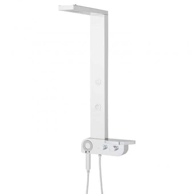 Barakel Stainless Steel Shower Panel with Body Sprays and Hand Shower - Polished
