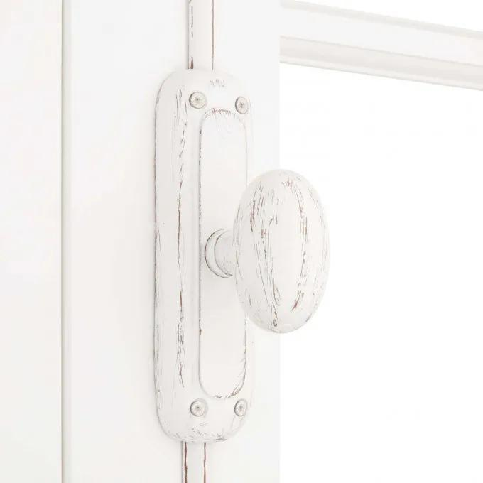 Classic Iron Oval Door Cremone Bolt - Distressed White