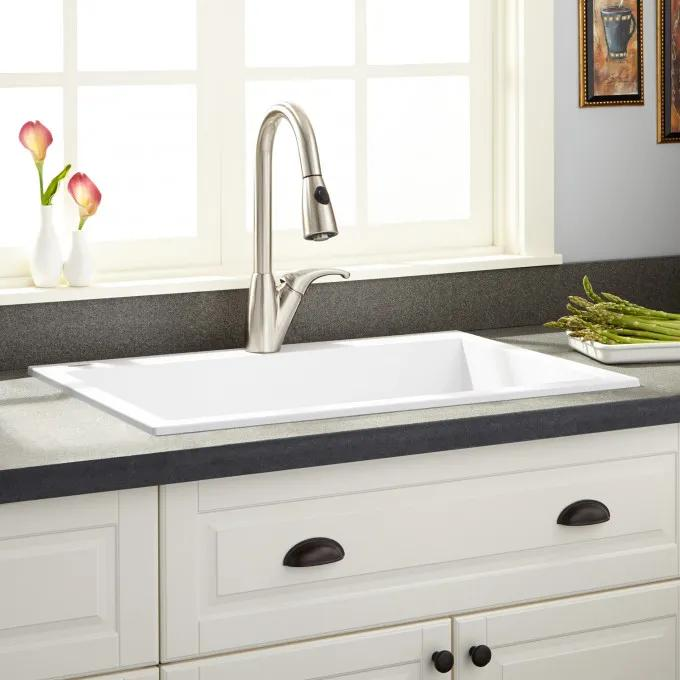 "30"" Holcomb Drop-In Granite Composite Sink - Beige"
