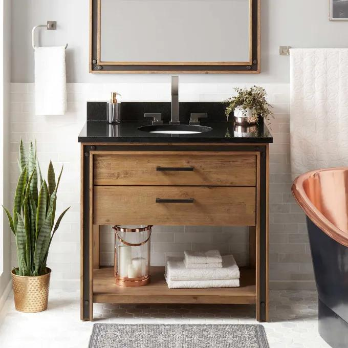 "36"" Celebration Vanity for Undermount Sink - Rustic Acacia"