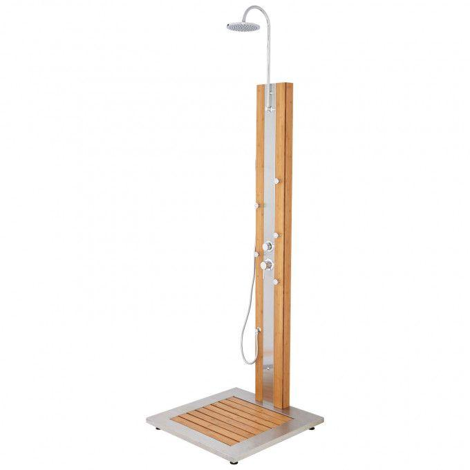 Newman Outdoor Bamboo Shower Panel and Tray