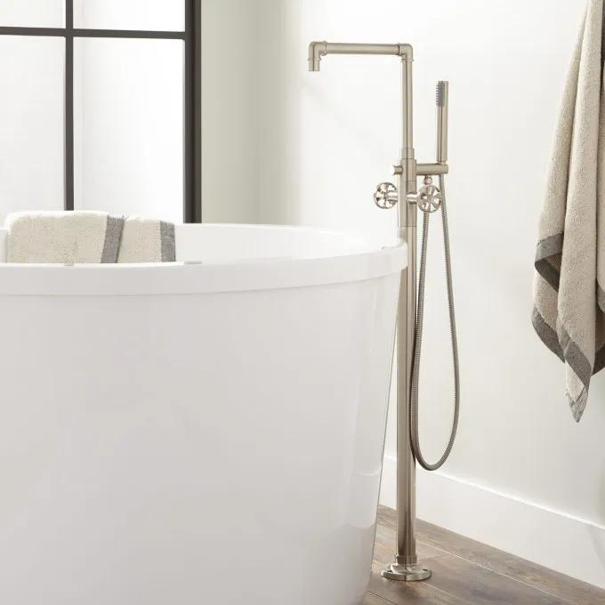 Edison Freestanding Tub Faucet with Hand Shower