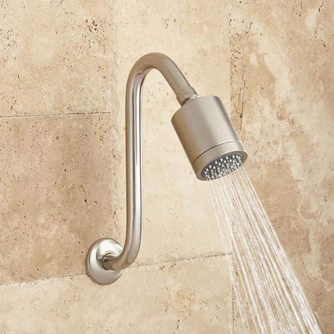 Rosselli Solid Brass Shower Head with Offset Arm
