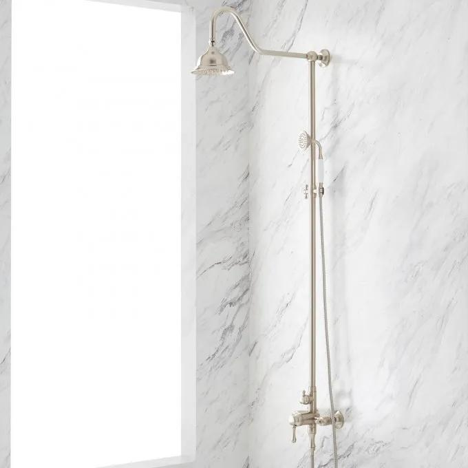 Alliston Exposed Pipe Shower with Hand Shower