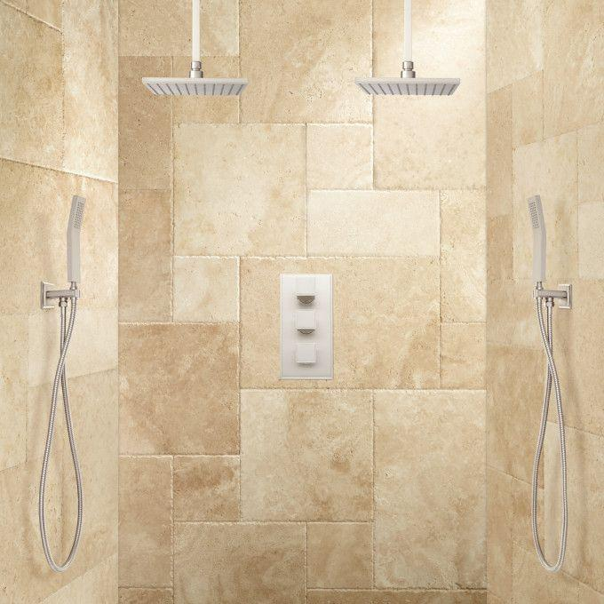 Ryle Dual Rainfall Shower System with Hand Shower
