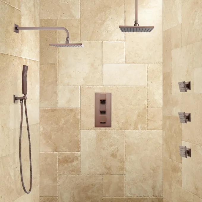 Ryle Dual Wall-Mount & Rainfall Shower System with Handshower & Body Sprays