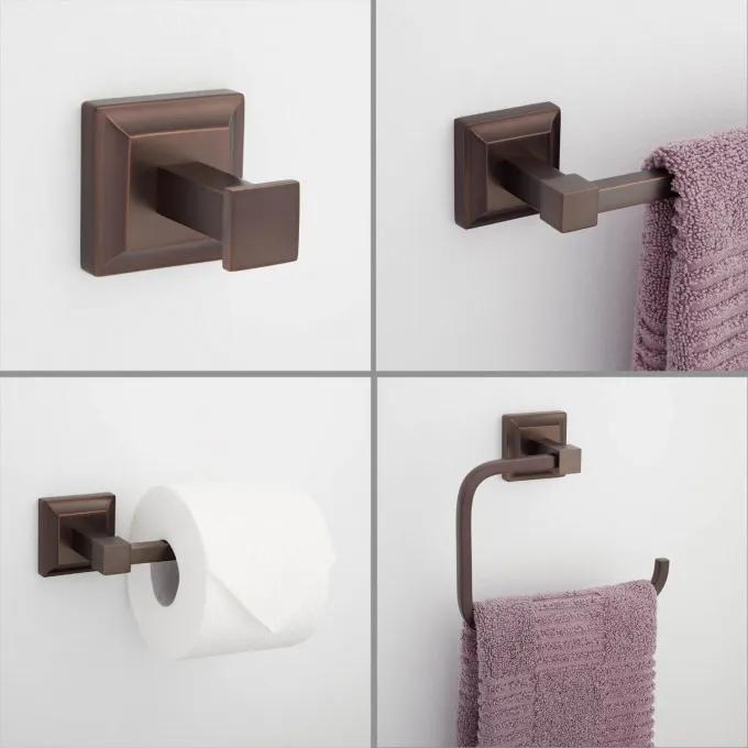 Aaliyah 4-Piece Bathroom Accessory Set - Oil Rubbed Bronze