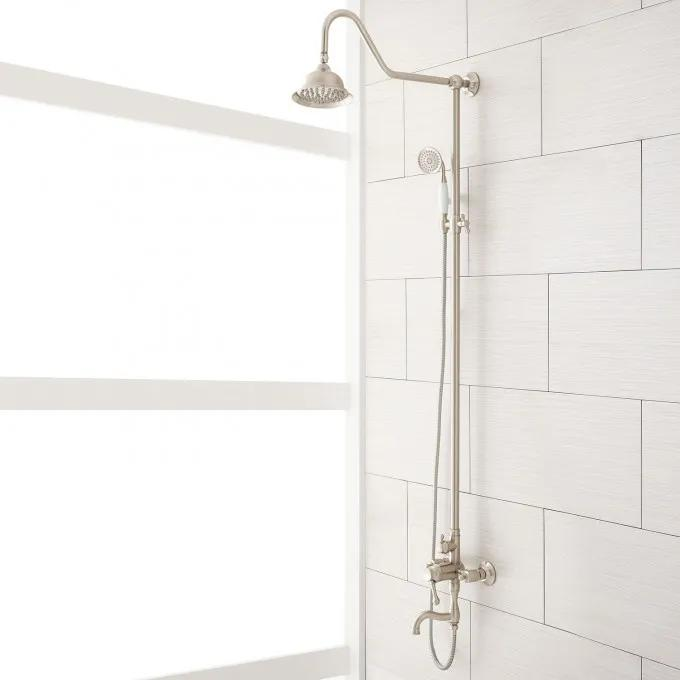 Dolwick Exposed Pipe Shower and Tub Faucet