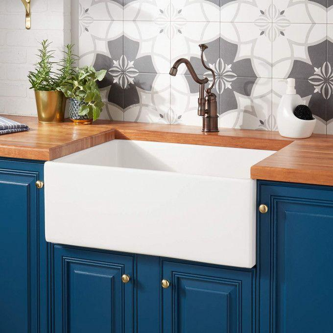 "27"" Torun Fireclay Farmhouse Sink - White"