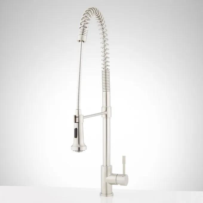 Adams Single-Hole Outdoor Kitchen Faucet with Pull-Down Spring Spout