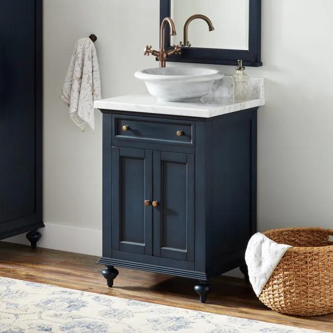 "24"" Keller Vessel Sink Vanity - Navy Blue"