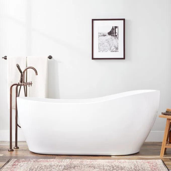 "67"" Giana Acrylic Slipper Tub"