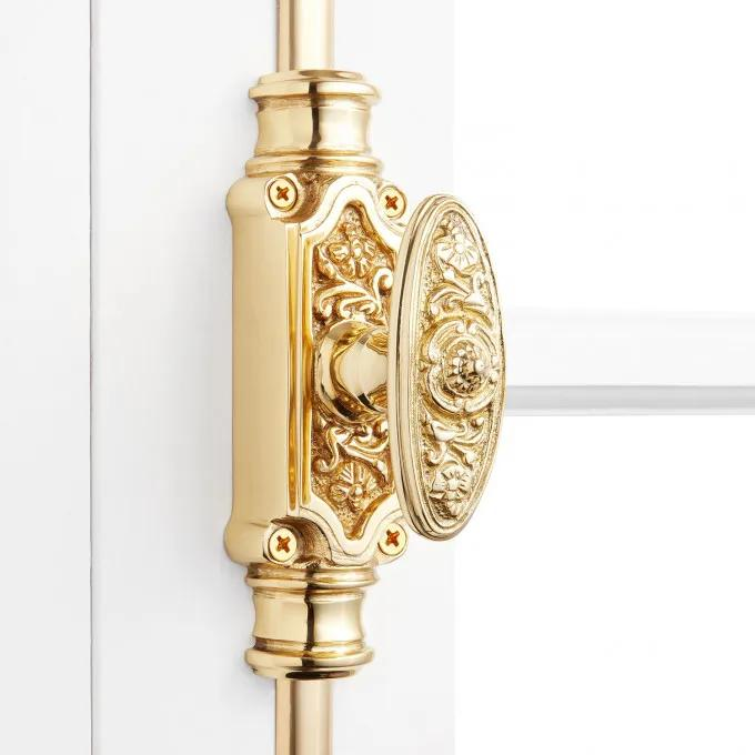 Door Cremone Bolt 9' Polished Lacquered