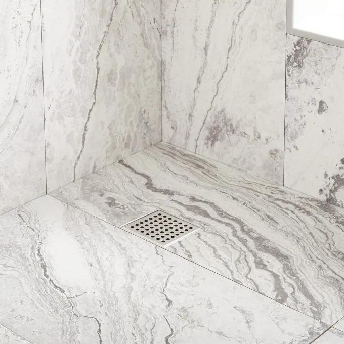 Werner Square Shower Drain - Brushed Stainless Steel