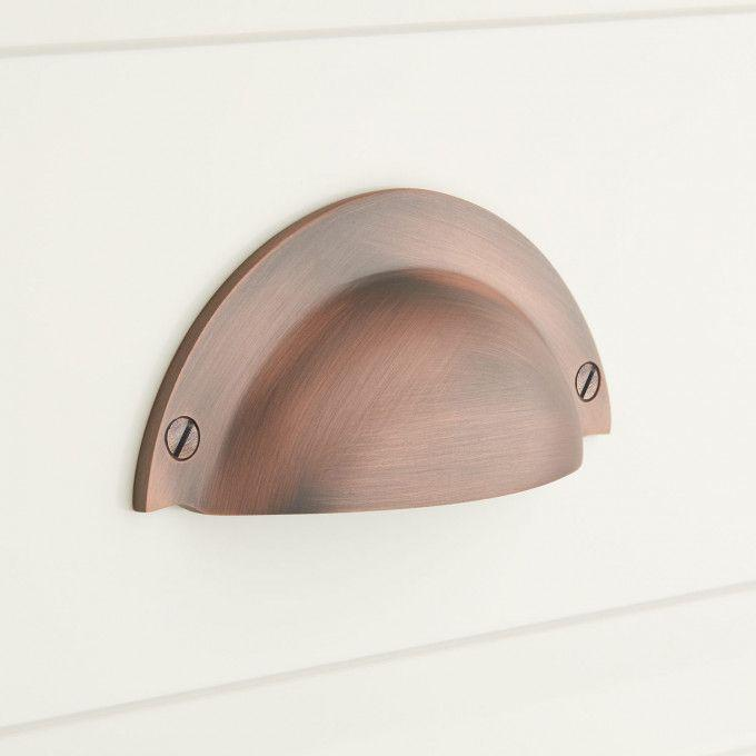 Rustic Style Brass Traditional Bin Pull - Oil Rubbed Bronze