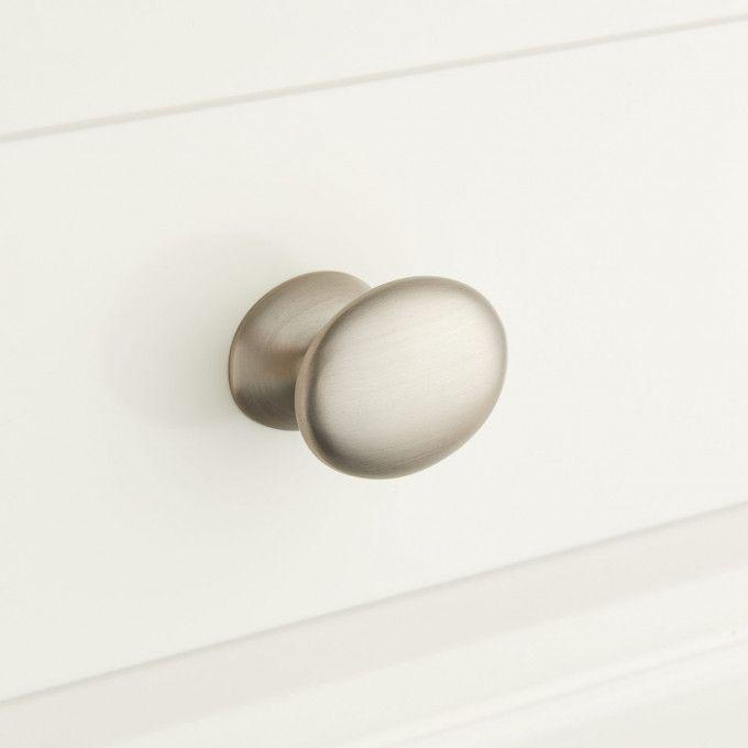Rennes Solid Brass Oval Cabinet Knob