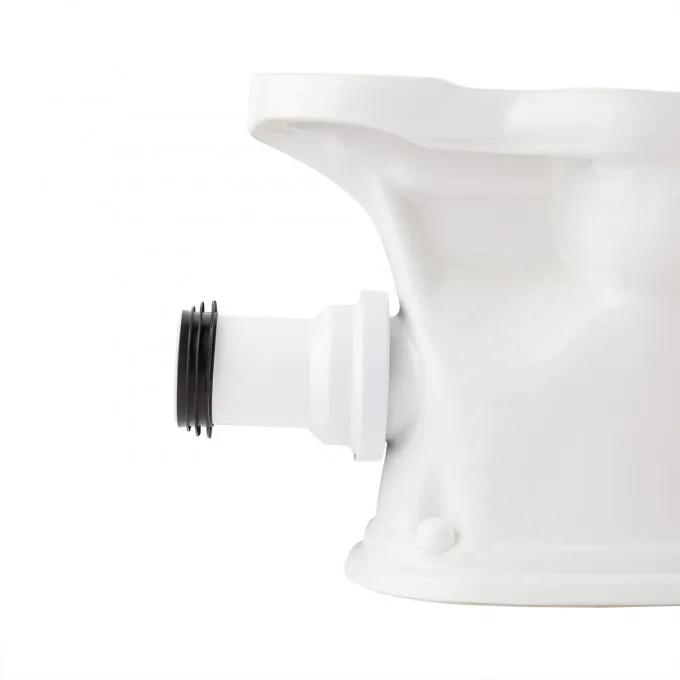 Rear Outlet Toilet P-Trap Connector - White