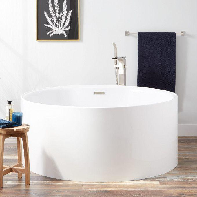 "56"" Cathleen Freestanding Acrylic Tub"