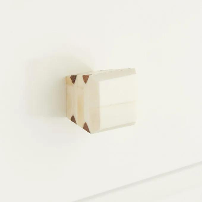 """Bone Resin with Wood Cabinet Pull-1"""""""