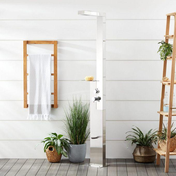 Woodgate Freestanding Stainless Steel Outdoor Shower Panel