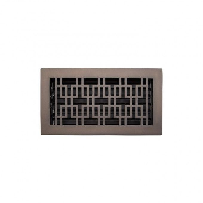 "Kilby Brass Floor Register - Oil Rubbed Bronze - 6"" x 12"" (7-1/2"" x 13-3/4"" Overall)"