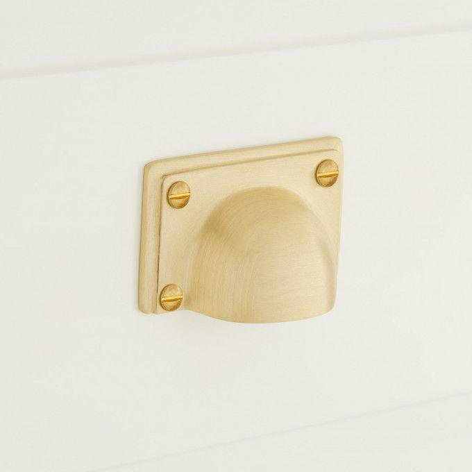 Abaco Brass Cup Pull - Satin Brass