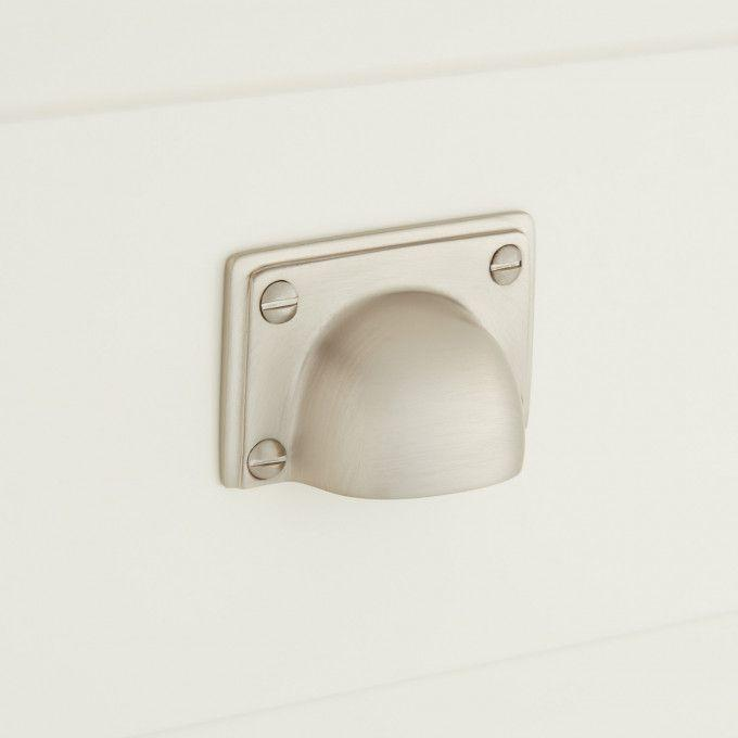 Abaco Brass Cup Pull - Brushed Nickel
