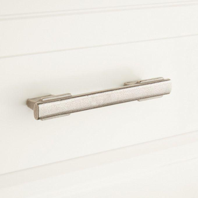 Lambric Solid Bronze Cabinet Pull - Distressed Nickel