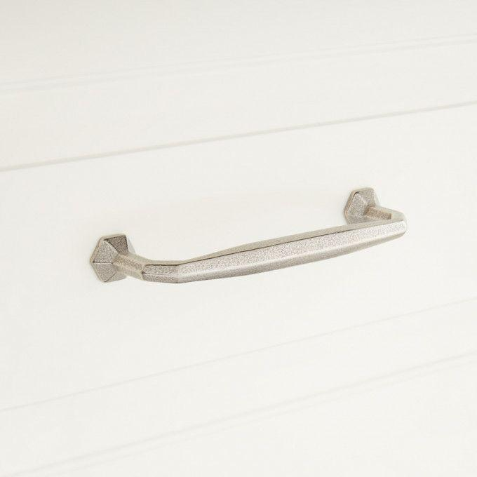 Marburg Solid Bronze Cabinet Pull - Distressed Nickel