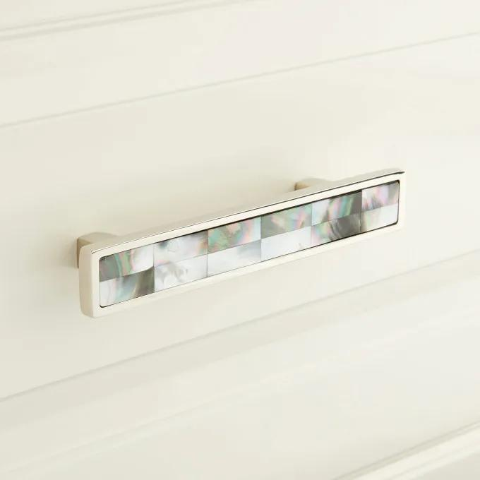 Kumano Black Mother of Pearl Drawer Pull