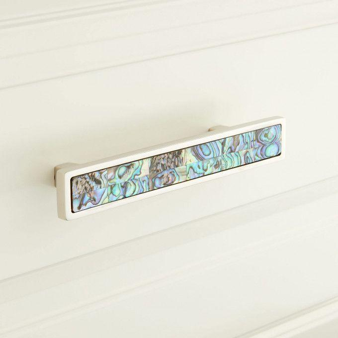 Kumano Green Mother of Pearl Drawer Pull