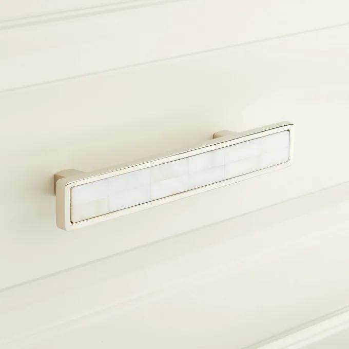 Kumano Mother of Pearl Drawer Pull - White
