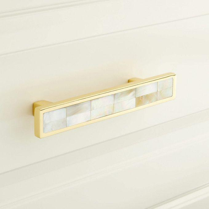 Kumano Yellow Mother of Pearl Drawer Pull