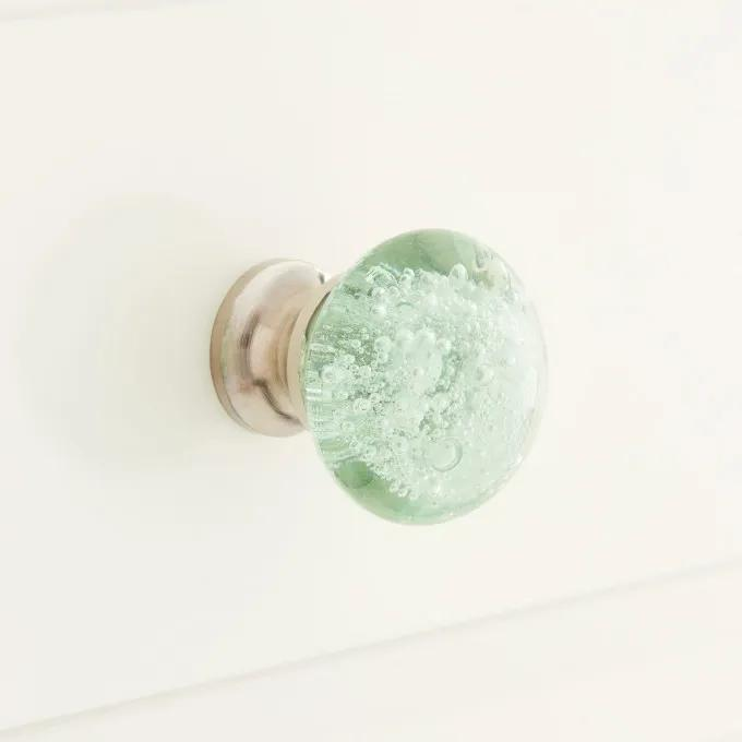 Chessa Round Bubbled Glass Cabinet Knob