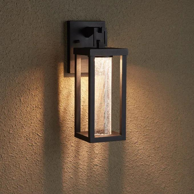 Topping Outdoor Entrance Wall Sconce - Single LED Light - Black